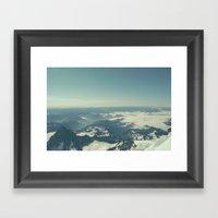 Amidst The Summit - Mt. … Framed Art Print