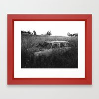 Nature reclaiming a vw squareback 02 Framed Art Print