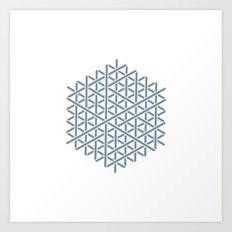 #154 Fabric of space – Geometry Daily Art Print