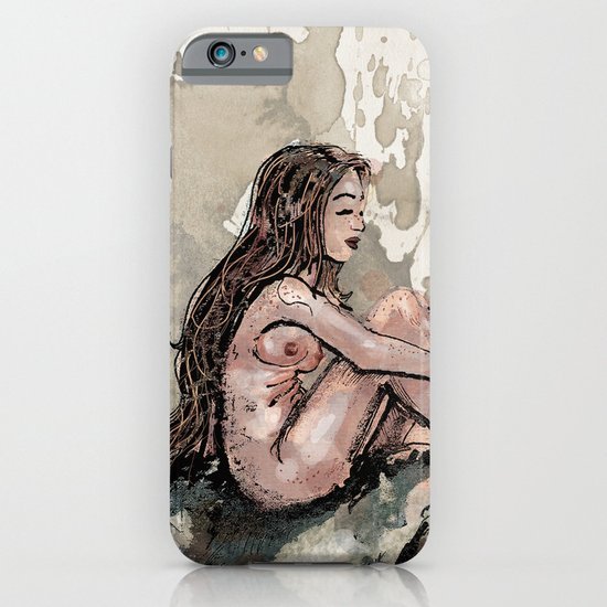 The Girl and the Rhino iPhone & iPod Case