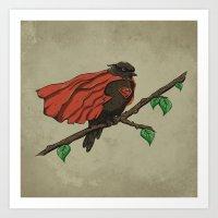 Super Bird Art Print