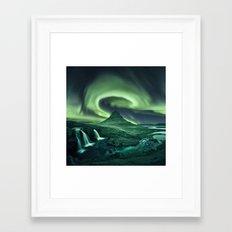 Kirkjufell Aurora Framed Art Print