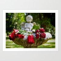 The roses remember Art Print