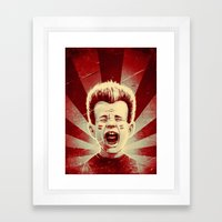 Red Noise Framed Art Print