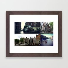 Photo collage Amsterdam 3  Framed Art Print