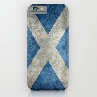 iPhone Cases featuring National flag of Scotland - Vintage version by Bruce Stanfield