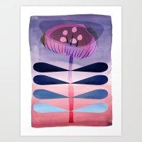 Folky Little Flower Art Print