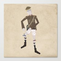 Timmy and his Performing Knees Canvas Print