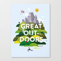 It's Great Outdoors Canvas Print