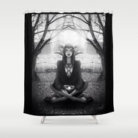 Meditate 2 Shower Curtain