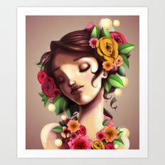 Las Flores Art Print