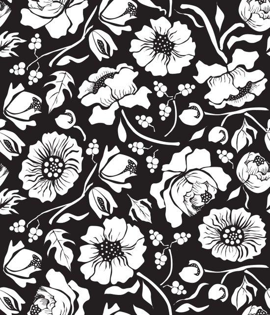 Black Russian Floral Art Print