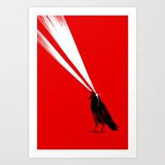 Laser Crow Art Print