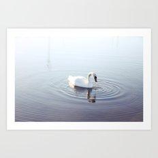 the beautiful swan Art Print
