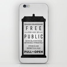 PULL to OPEN (TARDIS) iPhone & iPod Skin