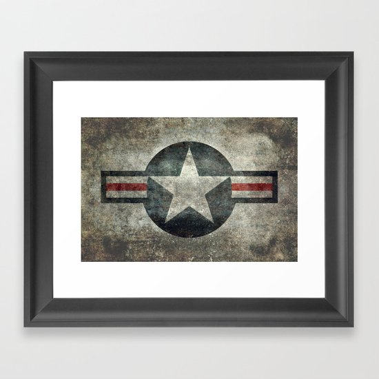 Stylized usaf star symbol roundel 1 framed art print by for Decor 6 form air force