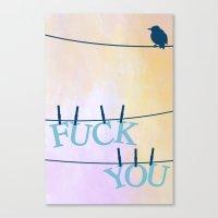 F U Canvas Print