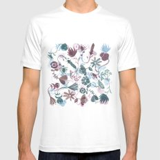 autumn flowers SMALL Mens Fitted Tee White
