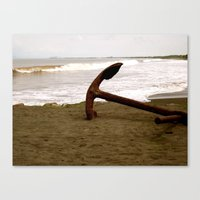 Canvas Print featuring Anchors To Stay by KeCuddihee