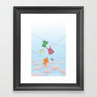 Spring Wind Framed Art Print