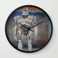 Iron Giant and Rothko Wall Clock