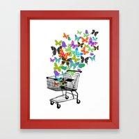 Urban Butterflies Framed Art Print