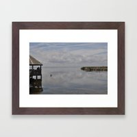 Outerbanks Bay Landscape… Framed Art Print