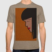 Pop Icon - Mia Mens Fitted Tee Tri-Coffee SMALL