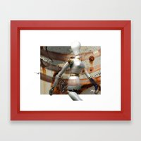 Poser Framed Art Print