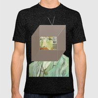 Vincent In A Box 1 Mens Fitted Tee Tri-Black SMALL