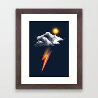 rain(thunder)bow Framed Art Print