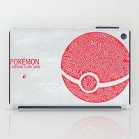 Pokemon Typography iPad Case
