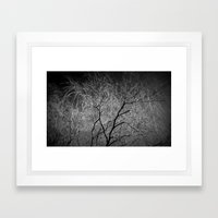 Black and White  Framed Art Print