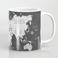 The World Map B/W Mug
