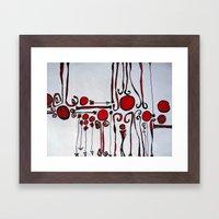 platelet Framed Art Print