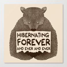 Hibernating Forever Canvas Print