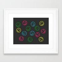 Happy Faces Framed Art Print