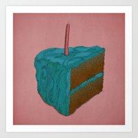Happy Birthday! (blue) Art Print