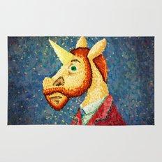 Pointillism Unicorn Rug