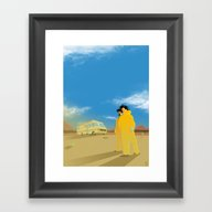 Breaking Bad Minimalist … Framed Art Print
