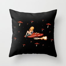Mushroom Space Throw Pillow