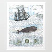 The Ocean Blue Art Print