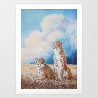 Serengeti Strikes (paint… Art Print