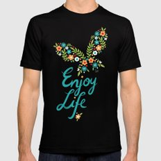 Enjoy Life Mens Fitted Tee Black SMALL