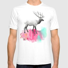 Wild No. 2 // Elk Mens Fitted Tee White SMALL