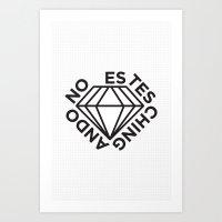 NO ESTES CHINGANDO. Art Print
