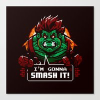 Gonna Smash It! Canvas Print