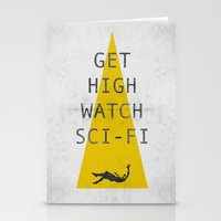 watch sci-fi Stationery Cards