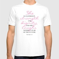 The beauty of a woman Mens Fitted Tee White SMALL
