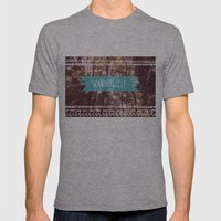 Wanderlust Mens Fitted Tee Athletic Grey SMALL